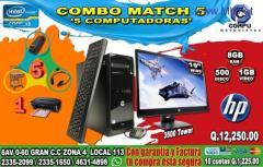 COMBO COMPLETO DE 05 COMPUTADORAS HP, PROCESADOR COREi3, A Q 12,250