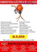 MEZCLADORA ELECTRICA DE 1/2 SACO