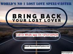 Love Spells THAT RETURNS LOST LOVERS IN 2 DAYS