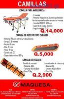 CAMILLAS DE EQUIPO TACTICO MAQUESA HUEHUE
