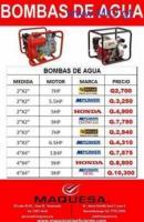 BOMBAS DE AGUA MAQUESA HUEHUE
