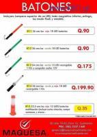 Batones con luz led