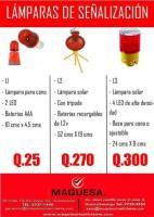 LAMPARAS DE SEÑALIZACIÓN EN MAQUESA HUEHUE