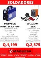 SOLDADORES (INVERTER 100amp y soldador 250A)