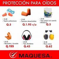PROTECCIÓN PARA OÍDOS EN MAQUESA HUEHUE