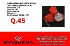 MASCARILLA DE RESPIRACIÓN CARDIO PULMONAR RCP