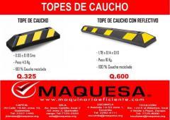 TOPES DE CAUCHO EN MAQUESA