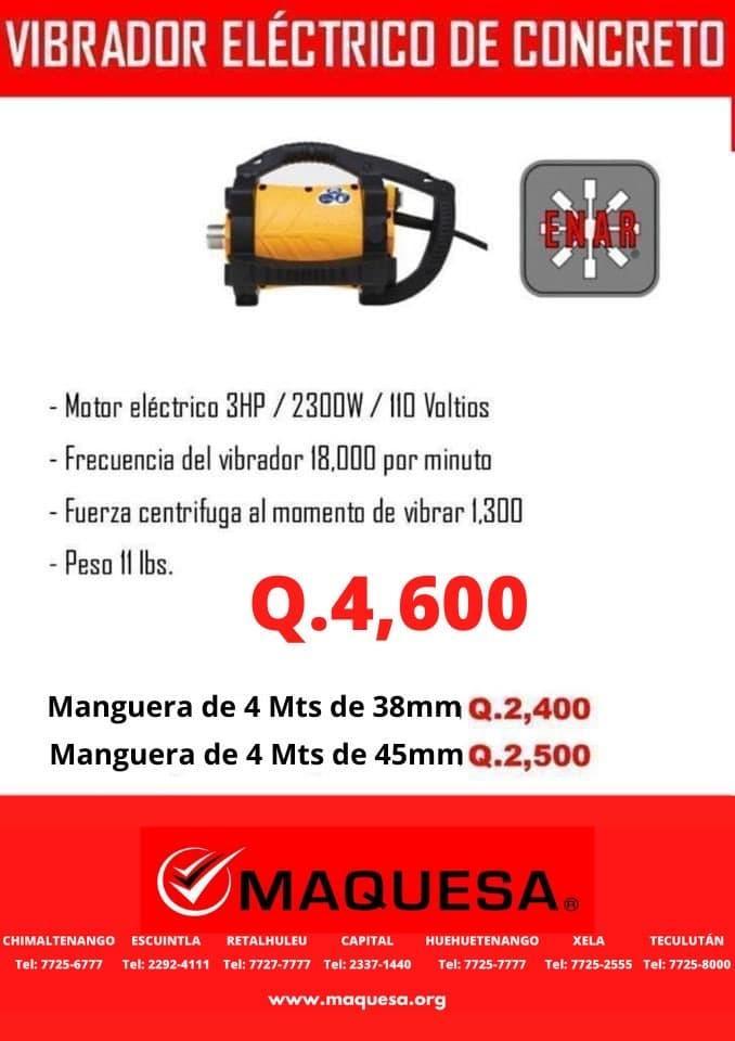 VIBRADOR ELECTRICO PARA CONCRETO