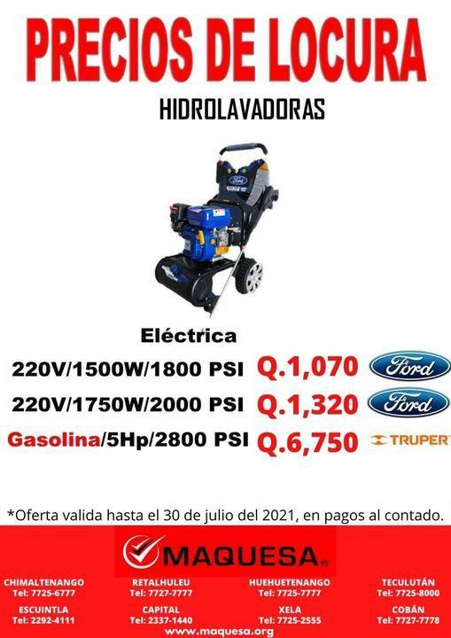 PRECIOS DE LOCURA EN HIDROLAVADORAS