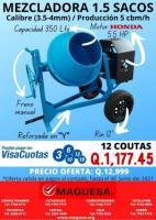 MEZCLADORA JOPER 1.5 SACOS MOTOR HONDA 5.5HP