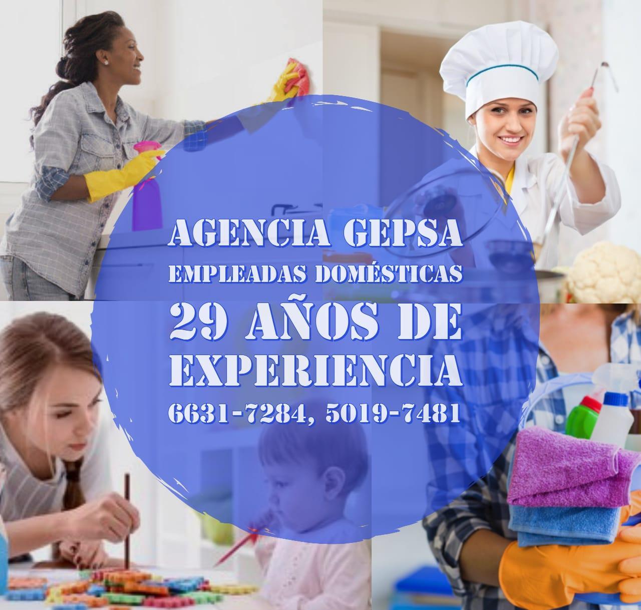 Agencia de Empleadas Domésticas GEPSA, 29 años de experiencia