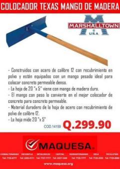 COLOCADOR TEXAS MANGO DE MADERA