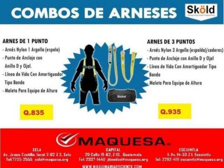 COMBOS DE ARNESES CERTIFICADOS