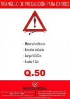 Triangulo de señalización para vehículos
