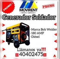 Renta generador soldador