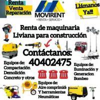 Renta de maquinaria liviana para la construccion