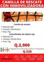 CAMILLA DE RESCATE CON CABEZAL
