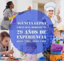 Servicio de Empleadas Domésticas y Niñeras Agencia GEPSA 29 años