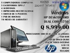 Paquete de 5 HP AMD Dual Core 5750 para Cyber cafe
